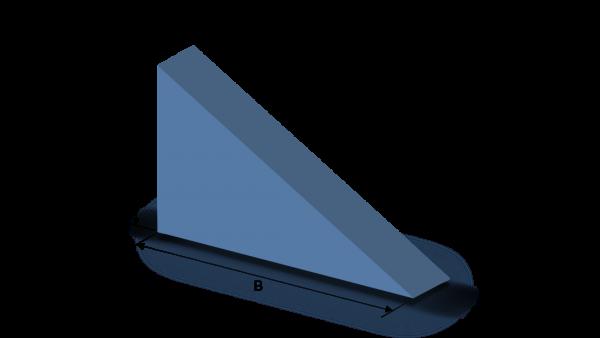 Schaumstoffzuschnitt rechtwinkliges Dreieck