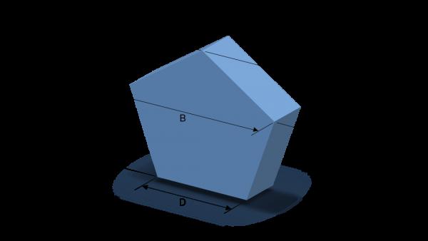Schaumstoffzuschnitt Fünfeck