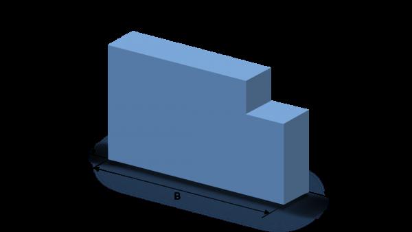 Schaumstoffzuschnitt Rechteck mit einem Ausschnitt