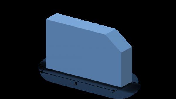 Schaumstoffzuschnitt Rechteck mit Eckabschnitt