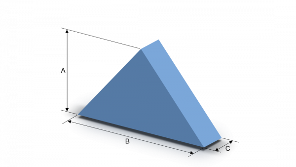 Schaumstoffzuschnitt gleichseitiges Dreieck