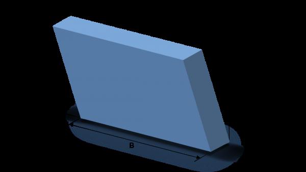 Schaumstoffzuschnitt Parallelogram